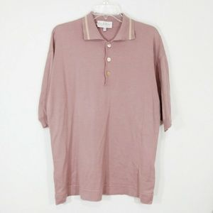 Byblos polo shirt rose pink size large